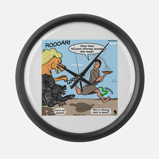 Burnt Offering Problems Large Wall Clock