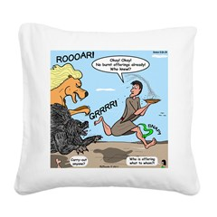 Burnt Offering Problems Square Canvas Pillow