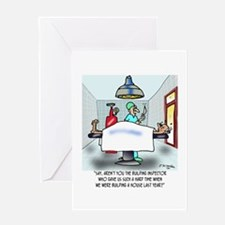 Say, Aren't You The Inspector ... Greeting Card