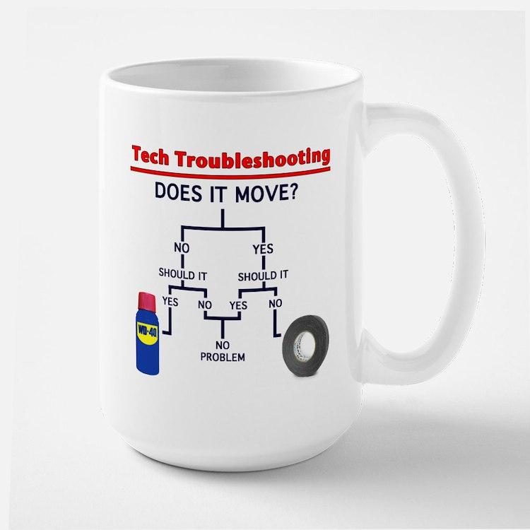 Tech Troubleshooting Flowchart Mug