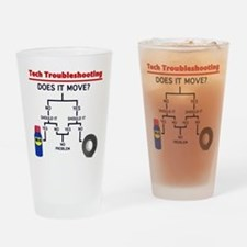 Tech Troubleshooting Flowchart Drinking Glass