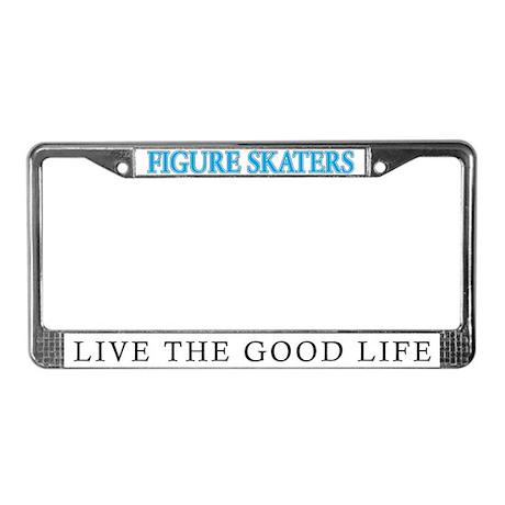 Figure Skating License Plate Frame