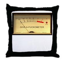 Attitude Meter Throw Pillow