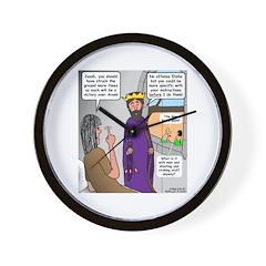 King Joash Predicament Wall Clock