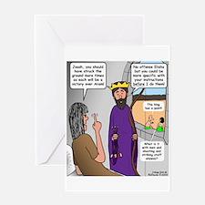 King Joash Predicament Greeting Card