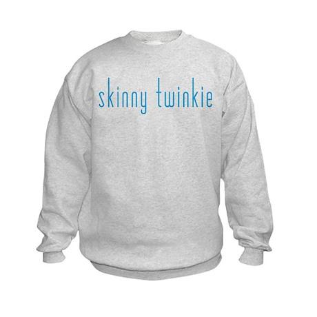 Skinny Twinkie (Blue) Kids Sweatshirt