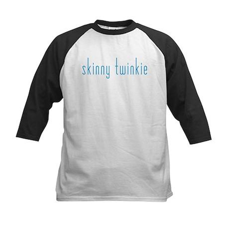 Skinny Twinkie (Blue) Kids Baseball Jersey