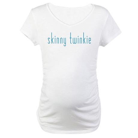 Skinny Twinkie (Blue) Maternity T-Shirt