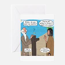 Elijah and Elisha Mantle II Greeting Card