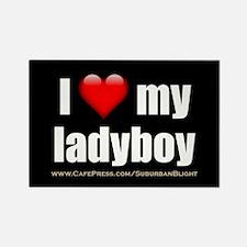 I Love My Ladyboy 3x5.jpg Rectangle Magnet
