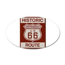 Helendale Route 66 20x12 Oval Wall Decal