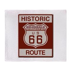 Helendale Route 66 Throw Blanket
