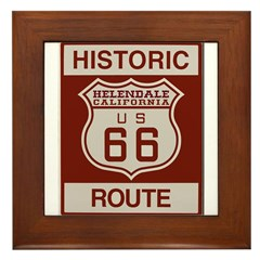 Helendale Route 66 Framed Tile