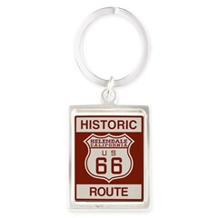 Helendale Route 66 Portrait Keychain