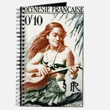 1958 French Polynesia Guitar Girl Postage Stamp Jo