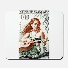 1958 French Polynesia Guitar Girl Postage Stamp Mo