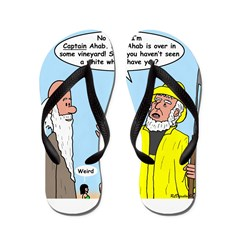 Elijah and Captain Ahab Flip Flops