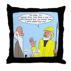 Elijah and Captain Ahab Throw Pillow