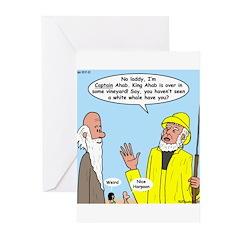 Elijah and Captain Ahab Greeting Cards (Pk of 20)