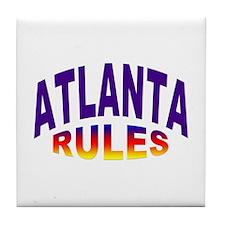 Atlanta Rules Tile Coaster