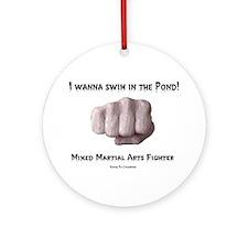 Swim in the Pond Ornament (Round)