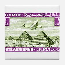 1933 Egypt Airplane Over Pyramids Postage Stamp Ti