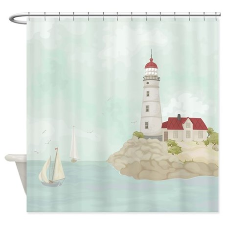 Beautiful Lighthouse Shower Curtain By BestShowerCurtains