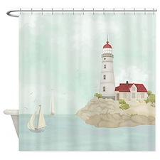 Beautiful Lighthouse Shower Curtain
