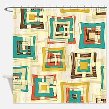 Stylish Square Pattern Shower Curtain