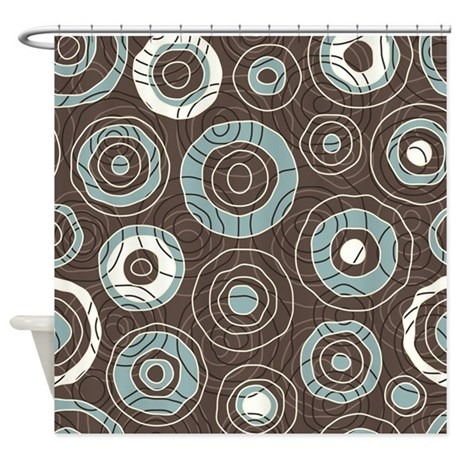 Delightful Circles Pattern Shower Curtain