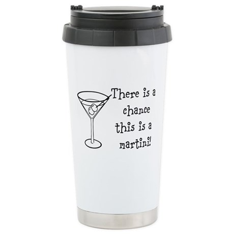 Martini Stainless Steel Travel Mug