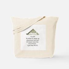 65th Birthday Aluminum Foil Hat Tote Bag