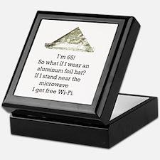65th Birthday Aluminum Foil Hat Keepsake Box