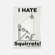 Squirrel Gun Rectangle Magnet