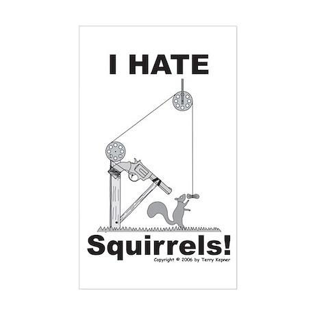 Squirrel Gun Rectangle Sticker