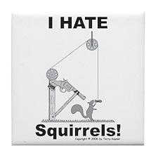 Squirrel Gun Tile Coaster