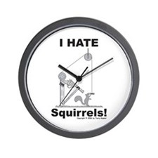 Squirrel Gun Wall Clock