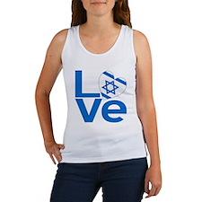 Israeli Blue LOVE Women's Tank Top