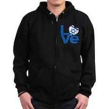 Israeli Blue LOVE Zip Hoodie