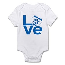 Israeli Blue LOVE Infant Bodysuit