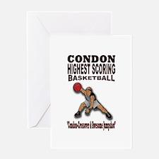 CONDON HIGHEST SCORING BASKETBALL Greeting Card