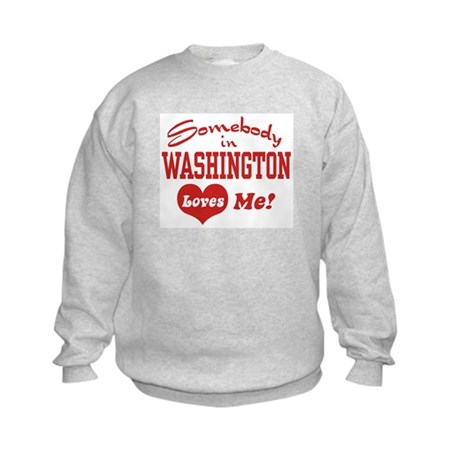 Somebody in Washington Loves Me Kids Sweatshirt