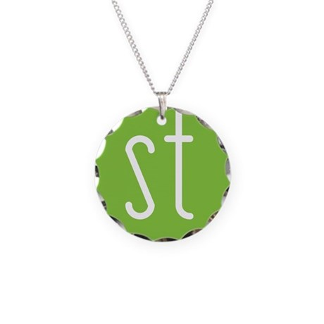 Skinny Twinkie Graphic Logo (Green) Necklace Circl