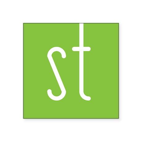 Skinny Twinkie Graphic Logo (Green) Square Sticker