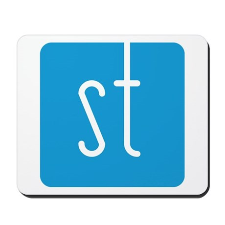 Skinny Twinkie Graphic Logo (Blue) Mousepad