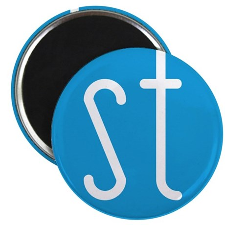 Skinny Twinkie Graphic Logo (Blue) Magnet