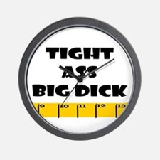 Ruler Tight Ass Big Dick Wall Clock