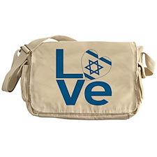 Israeli Blue LOVE Messenger Bag