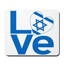 Israeli Blue LOVE Mousepad
