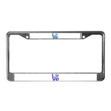 Israeli Blue LOVE License Plate Frame